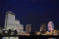 Yokohama Minatomirai 21 (night scene) Royalty Free Stock Photography