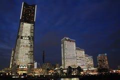 Yokohama Minatomirai 21 (nocy scena) Obraz Stock