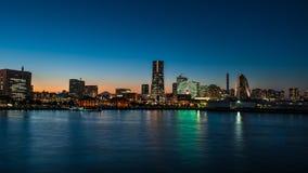 Yokohama and mount Fuji 2 Stock Photos