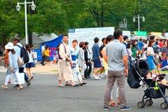 Yokohama: Mousserande skymning arkivbilder