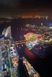 Yokohama na noite Imagens de Stock Royalty Free