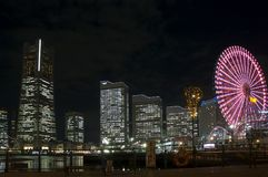 Yokohama na noite Fotos de Stock Royalty Free