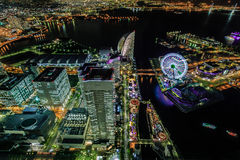Yokohama by night Royalty Free Stock Photo