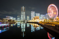 Yokohama Night Japan Stock Photo