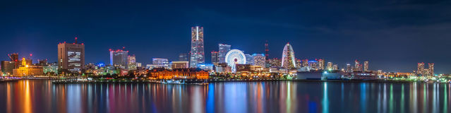 Yokohama by night Stock Image