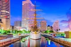 Yokohama, paysage urbain du Japon images libres de droits