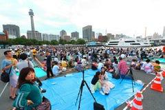 Yokohama: Penombra scintillante Fotografia Stock