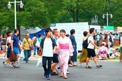 Yokohama: Penombra scintillante Fotografie Stock Libere da Diritti