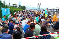 Yokohama: Penombra scintillante Immagini Stock Libere da Diritti