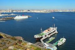 Yokohama port Arkivbild