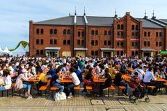 Yokohama Red brick Warehouse food event Stock Photo