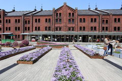 Yokohama Red Brick Warehouse.Japan. Stock Photography