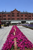 Yokohama Red Brick Warehouse.Japan. Stock Photos