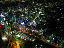 Yokohama Skyline. Night time image of Yokohama city lights Stock Photo