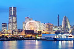 Yokohama skyline royalty free stock image
