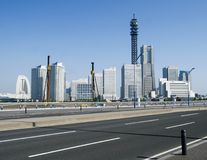 Yokohama skyline by day in japan Royalty Free Stock Photo