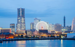 Yokohama Skyline dusk Royalty Free Stock Photo