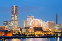 Yokohama Skyline dusk Japan Stock Images