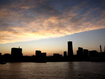 Yokohama Skyline with Fuji Royalty Free Stock Photos