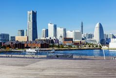 Yokohama skyline in Japan Stock Photography