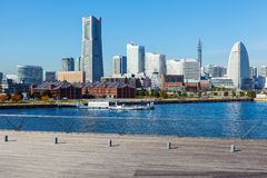 Yokohama skyline in Japan Royalty Free Stock Images
