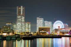 Yokohama Skyline night Japan Royalty Free Stock Photos