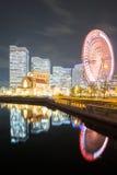 Yokohama Skyline night Japan Royalty Free Stock Photo