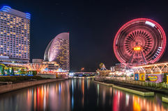 Yokohama Skyline at Night Royalty Free Stock Photos