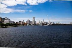 Yokohama Skyline seen from Tokyo Bay 5 stock images