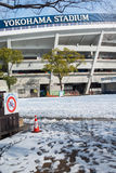 Yokohama Stadium with snow in,Yokohama, Japan Royalty Free Stock Image