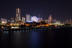 Yokohama-Stadt nachts Stockfoto