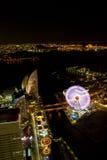 Yokohama-Stadt nachts in Japan Lizenzfreie Stockfotos