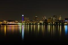 Yokohama-Stadt nachts in Japan Stockbild