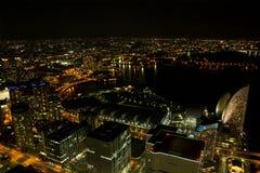 Yokohama-Stadt nachts in Japan Stockfoto