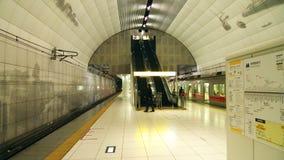 Yokohama Station. An underground shot of the inside of Yokohama Station waiting for the train Stock Photography