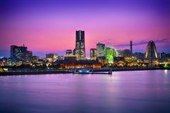 Yokohama &Sunset Stock Photo