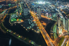 Yokohama top view cityscape Royalty Free Stock Photos