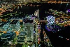 Yokohama vid natt Royaltyfri Foto