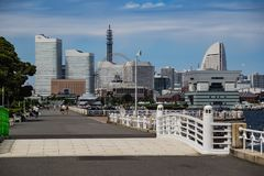 Yokohama`s waterfront in Yamashita Park royalty free stock image