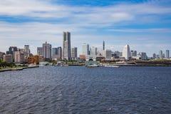 Yokohama waterfront skyline from Tokyo Bay 2 royalty free stock photos