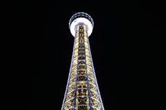 Yokohamaen Marine Tower på natten Arkivfoto