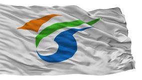 Yokote miasta flaga, Japonia, Akita prefektura, Odizolowywająca Na Białym tle ilustracji