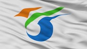Yokote miasta flaga, Japonia, Akita prefektura, zbliżenie widok ilustracji
