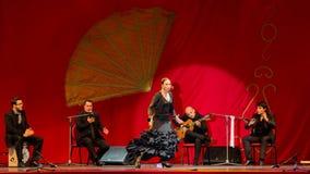 Yolanda Osuna - flamencodansare Arkivfoton