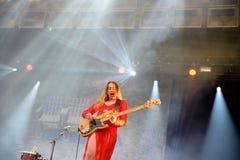 Yole de Haim (bande) au festival 2014 de bruit de Heineken Primavera Photo libre de droits