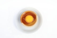 Yolk in the bowl Royalty Free Stock Image