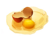 Yolk and broken shell Royalty Free Stock Photo
