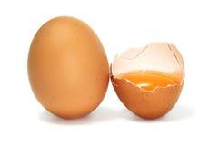Yolk de ovos foto de stock royalty free