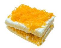 yolks för tråd för cakeäggguld Arkivbild