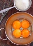 Yolks and sugar Royalty Free Stock Image